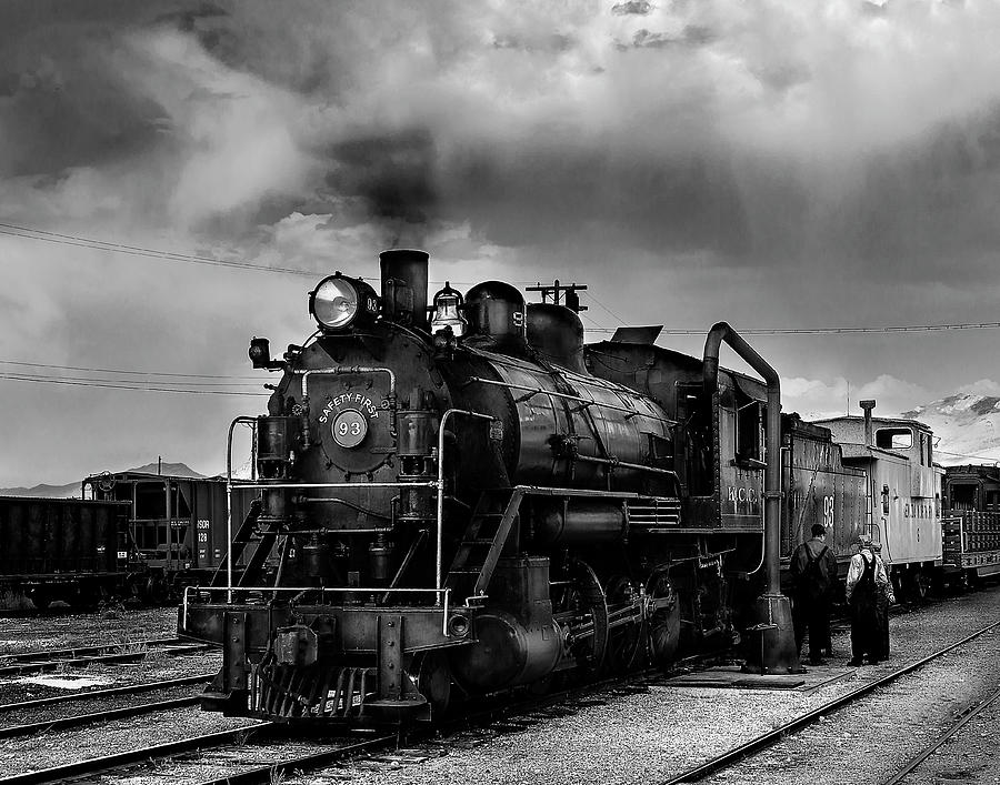 Steam Locomotive in Black and White 1 by James Sage