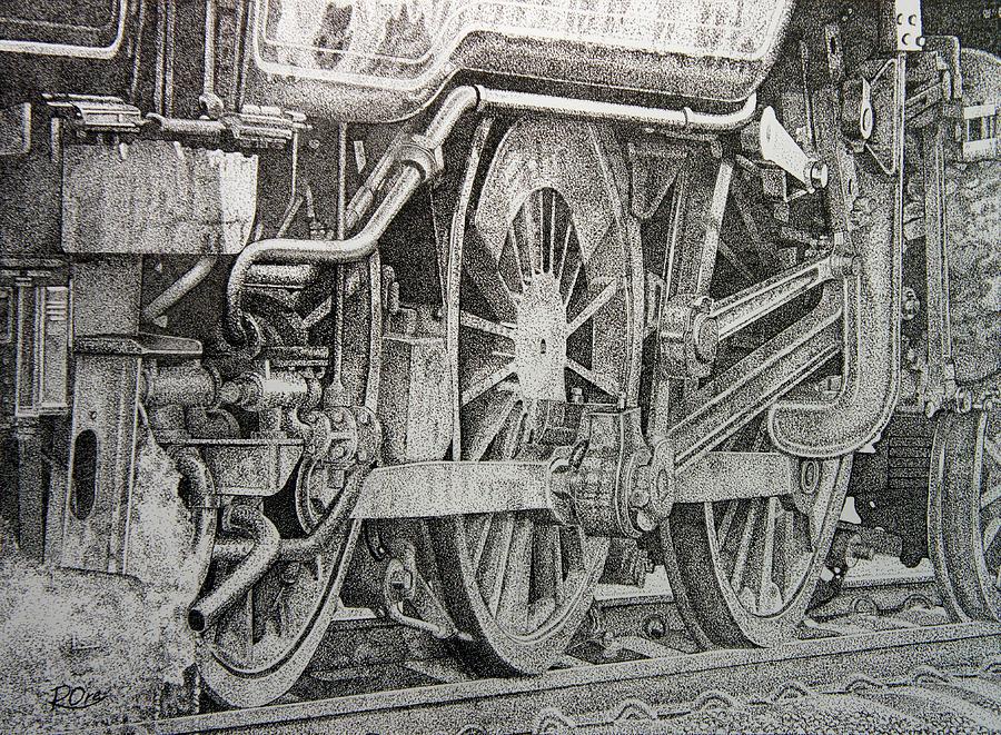 Steam Drawing - Steam Train by Raymond Ore
