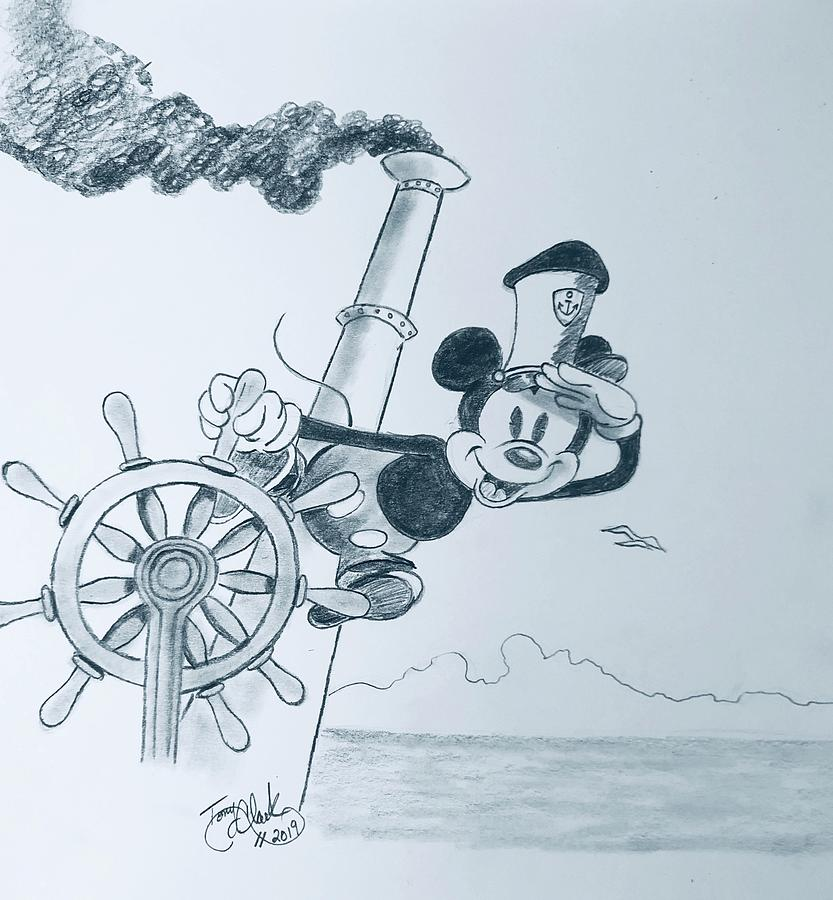 Steamboat Willie study  by Tony Clark
