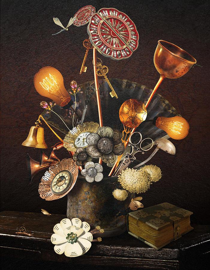 Steampunk bouquet by Mariella Wassing