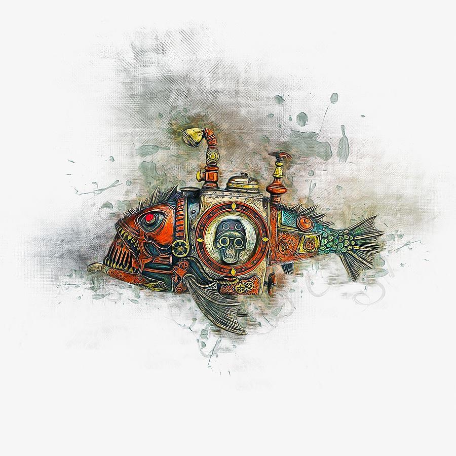 Steampunk Fish Drawing