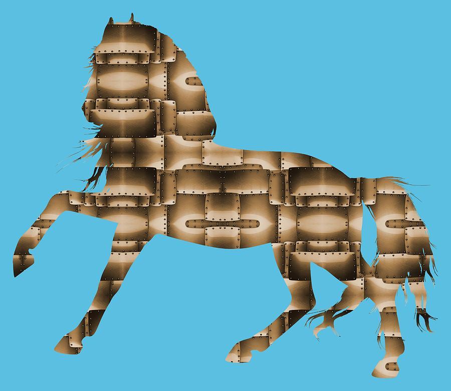 Steampunk Horse - Digital Art by Ericamaxine Price