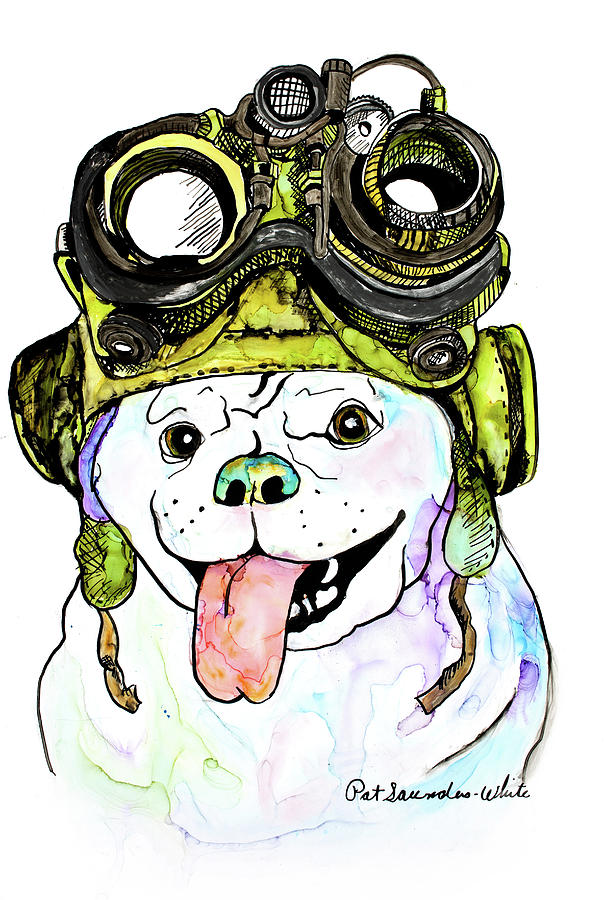 Steampunk Pug by Pat Saunders-White