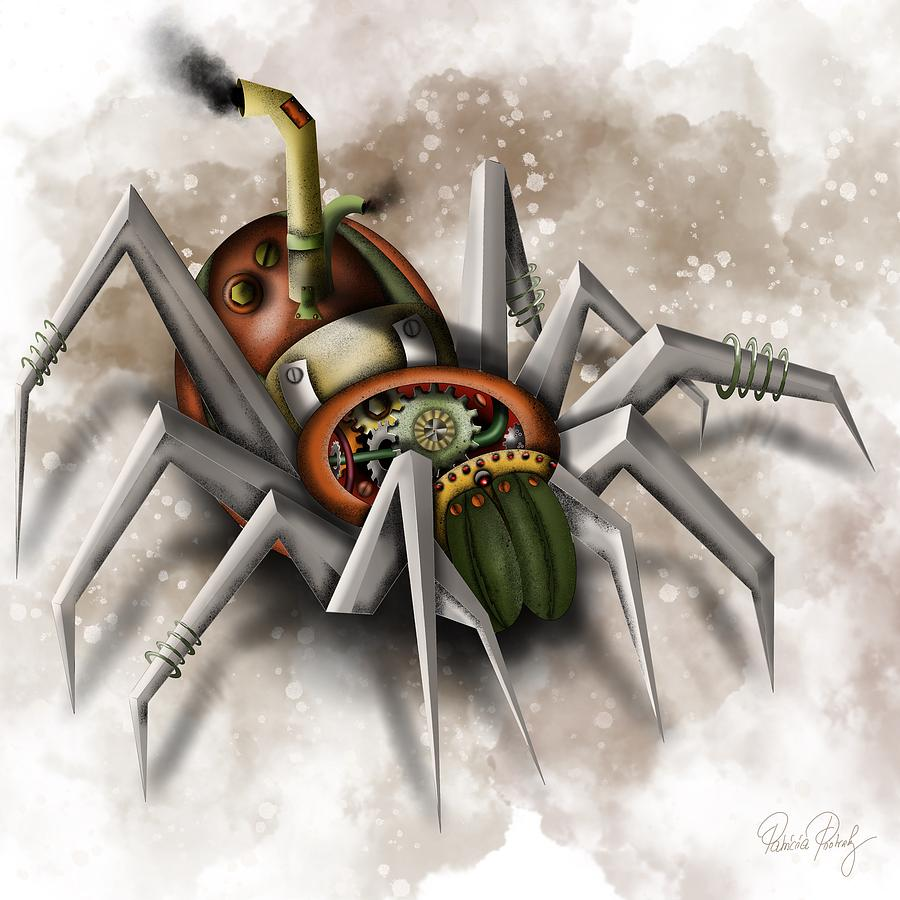 Steampunk Spider by Patricia Piotrak