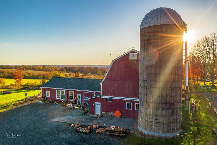 Stearns Family Farm stand  by Michael Hughes