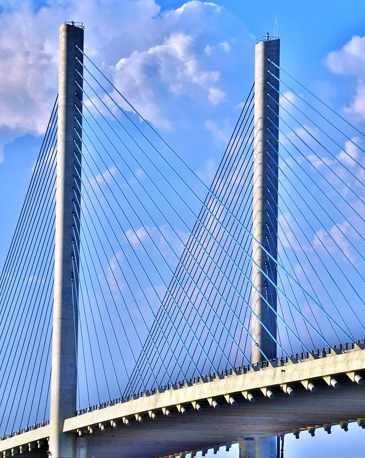 Steel and Blue - Indian River Inlet Bridge Delaware by Kim Bemis