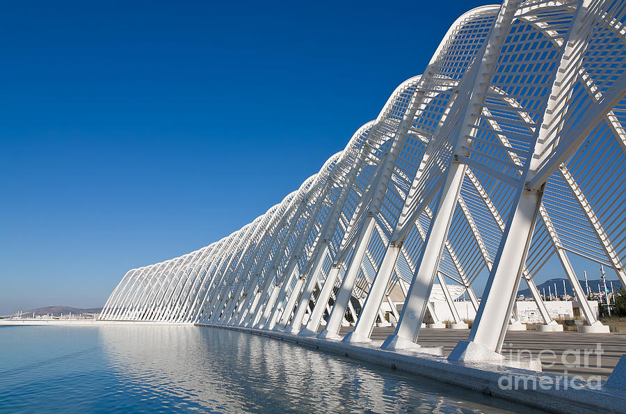 Steel Photograph - Steel Archway At Stadium In Greece by Pnik