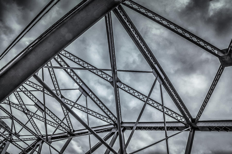 Steel Bridge Abstract by Guy Whiteley