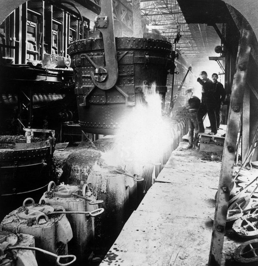 Steel Foundry Photograph by Hulton Archive