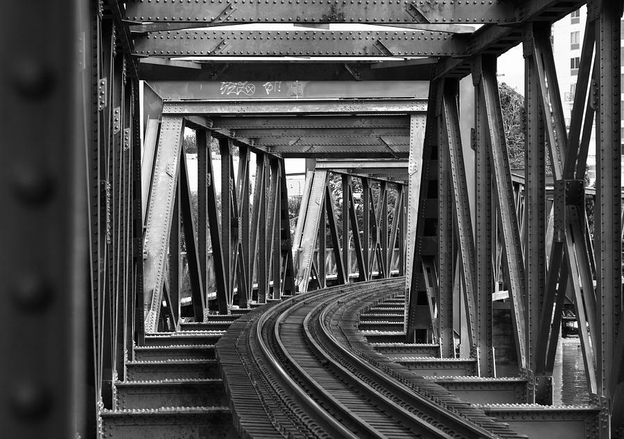 Steel Girder Railway Bridge Photograph by Peterjseager