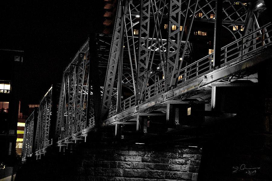 Steel of Blue Bridge Grand Rapids by Evie Carrier