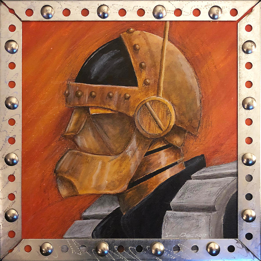 Robot Painting - Steel by Shawn Dooley