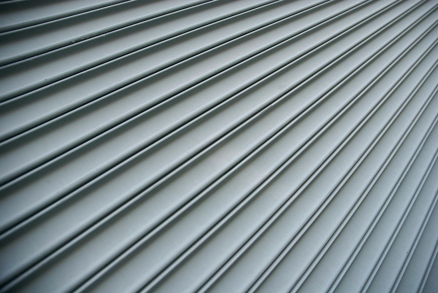 Steel Shutter Lines Background Diagonal Photograph by Peskymonkey
