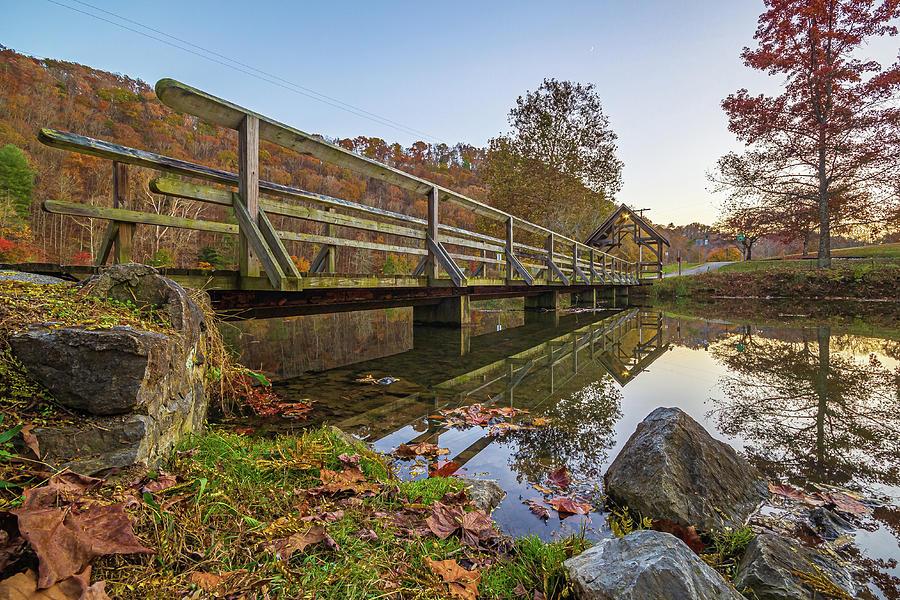 Steele Creek Bridge in Fall by Greg Booher