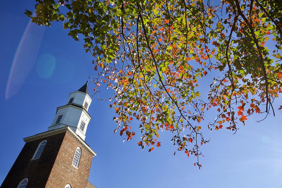 Steeple in the Fall by Rachel Morrison