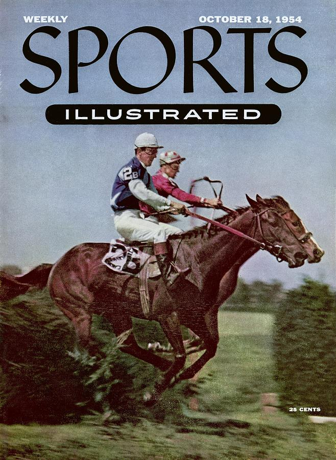 Steeplechase At Belmont Park Sports Illustrated Cover Photograph by Sports Illustrated