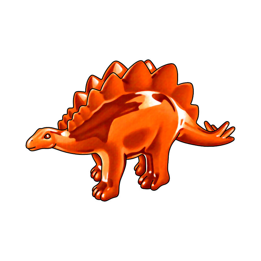 Stegosaurus Painting - Stegosaurus Cartoon by Christopher Spicer