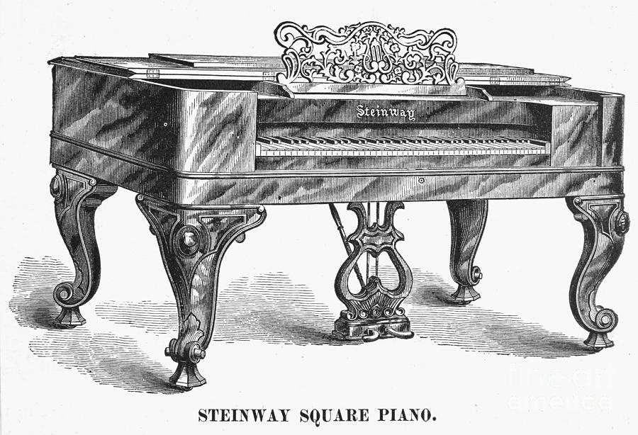 STEINWAY SQUARE PIANO, 1878 by Granger
