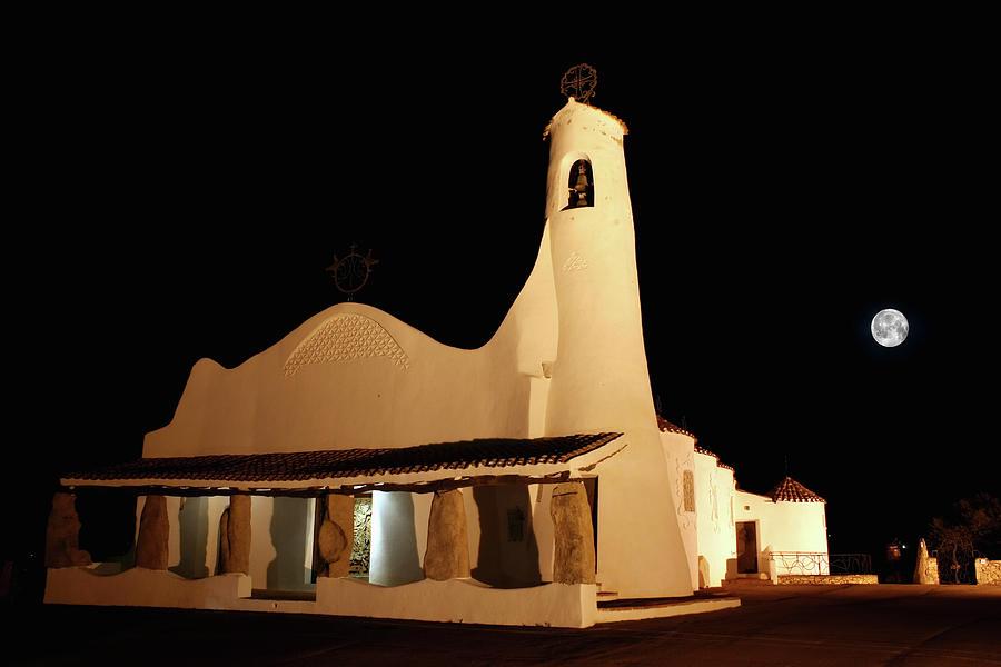 Stella Maris Church In Porto Cervo With Photograph by Photovideostock