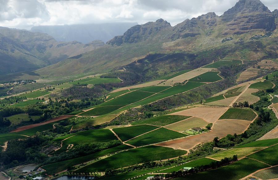 Stellenbosch Winelands - Aerial View Photograph by Funky-data