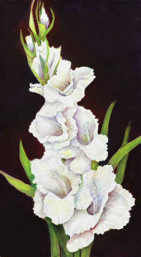 Flowers Painting - Stem Of Gladiolus by Joanne Porter