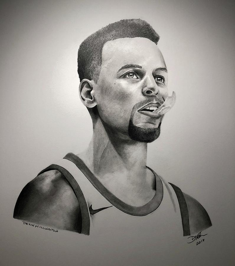 Stephen Curry Drawing - Stephen Curry by Devin Millington
