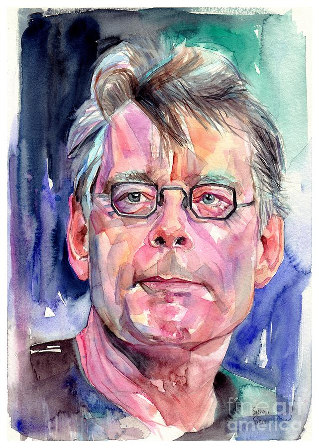 Stephen King Painting - Stephen King Portrait by Suzann Sines