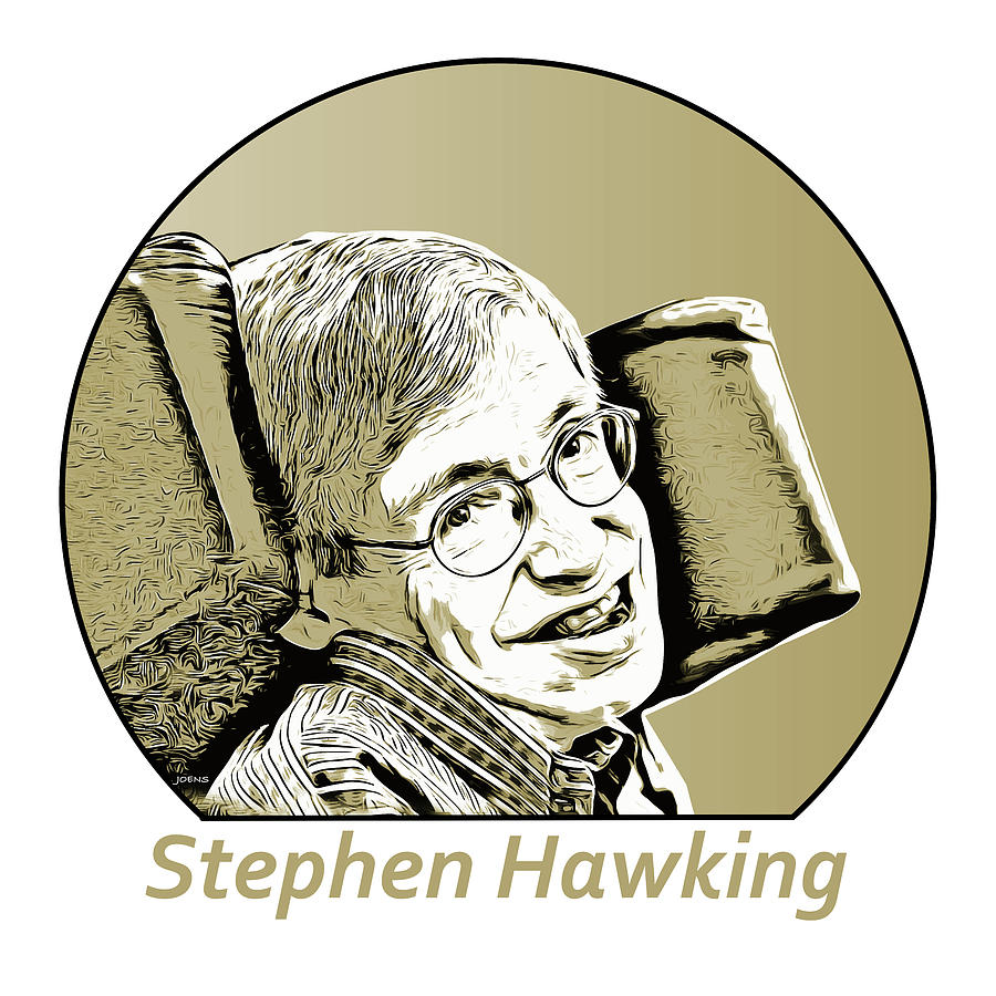 Stephen Hawking Digital Art - Stephen William Hawking by Greg Joens
