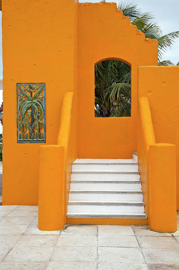 Steps, Patterns, Colors Of The Photograph by Barry Winiker