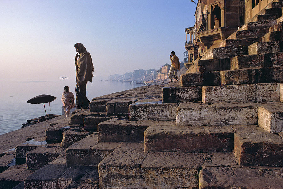 Steps To The Ganges, Varanasi, India Photograph by Jenner Zimmermann
