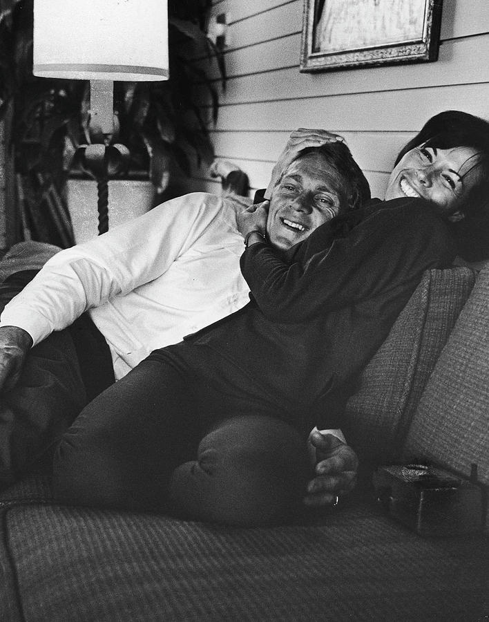 Steve Mcqueen & Wife Photograph by John Dominis