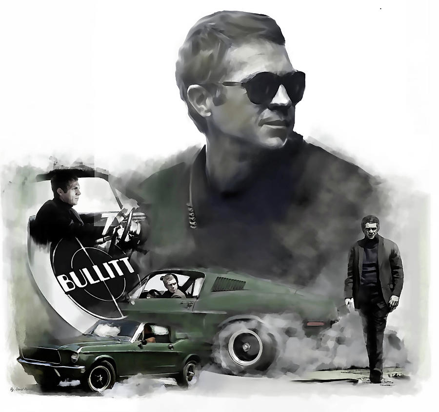 Steve McQueen Bullitt 50 by Iconic Images Art Gallery David Pucciarelli