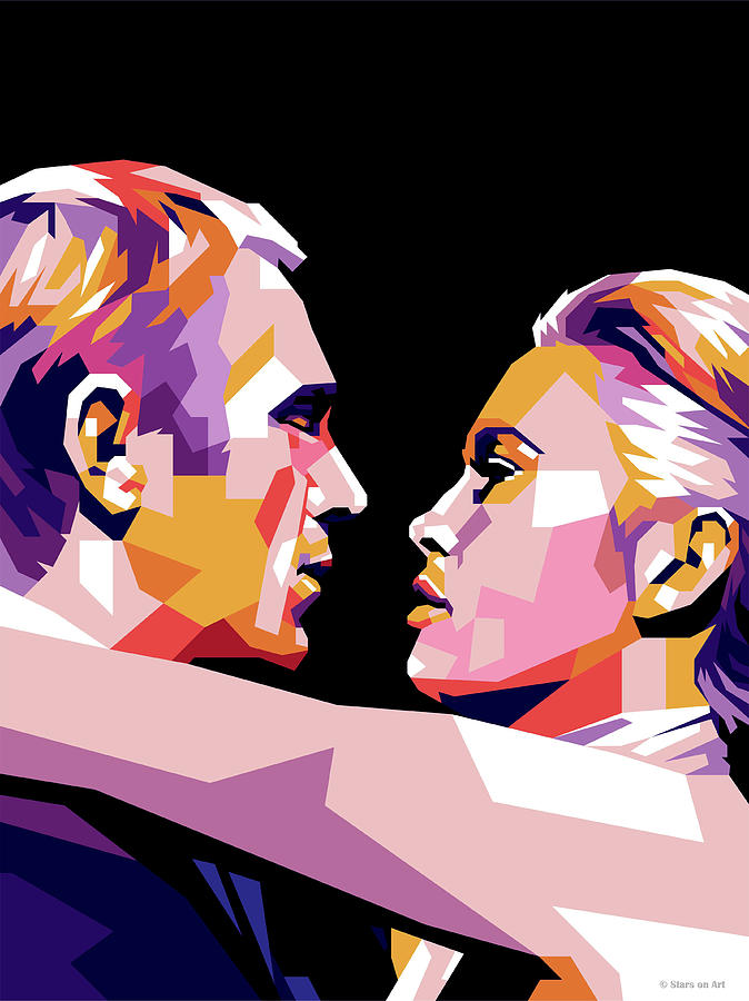Steve Mcqueen And Faye Dunaway Digital Art