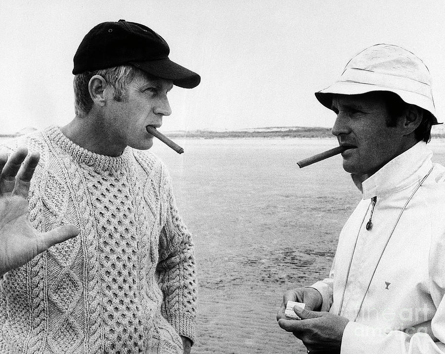 Steve Mcqueen And Norman Jewison Photograph by Bettmann