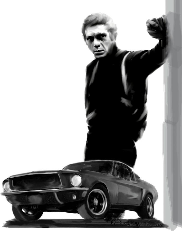 Steve McQueen Bullitt Cool III Painting by Iconic Images Art Gallery David Pucciarelli