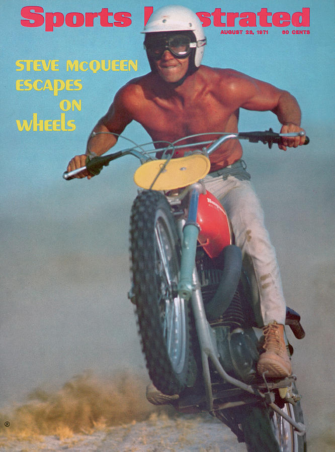 Steve Mcqueen, Motocross Sports Illustrated Cover Photograph by Sports Illustrated