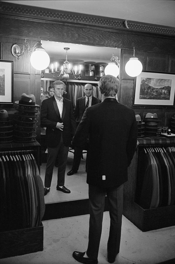 Steve Mcqueen Photograph - Steve Mcqueen Shops For Suits by John Dominis
