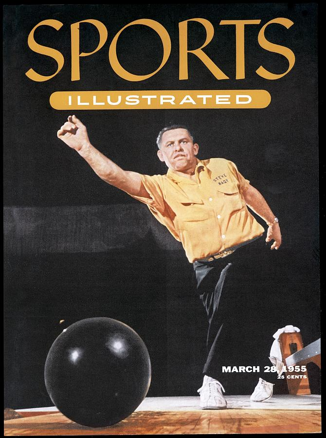 Steve Nagy, 1955 All Star Bowling Tourament Sports Illustrated Cover Photograph by Sports Illustrated