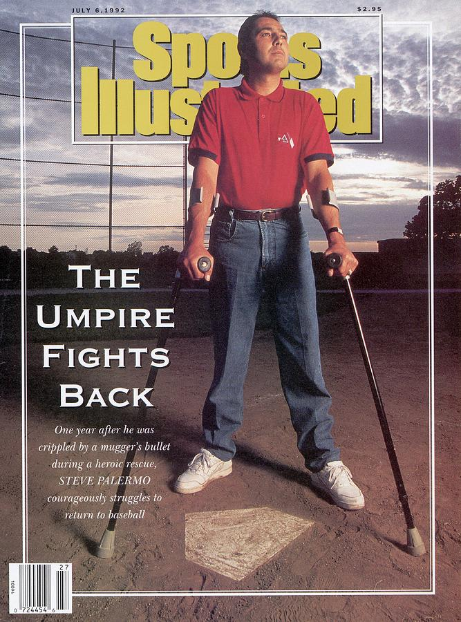 Steve Palermo, Baseball Umpire Sports Illustrated Cover Photograph by Sports Illustrated