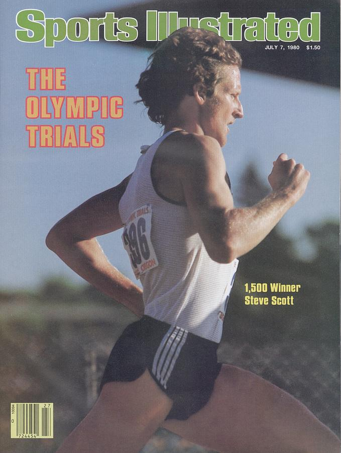 Steve Scott, 1980 Us Olympic Track & Field Trials Sports Illustrated Cover Photograph by Sports Illustrated