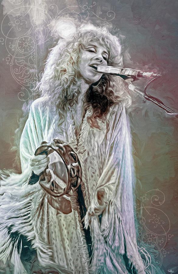 Stevie Nicks Mixed Media - Stevie Nicks by Mal Bray