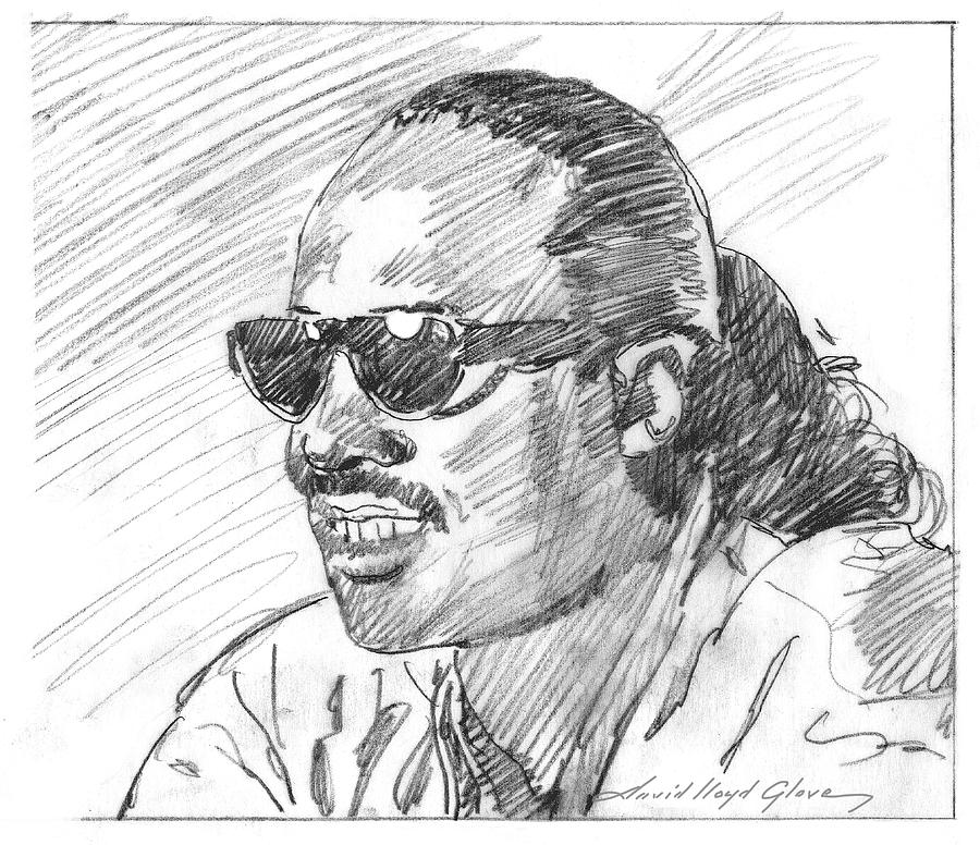 STEVIE WONDER SKETCH by David Lloyd Glover