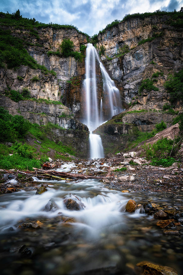 Stewart Falls in Utah's Wasatch Mountains by James Udall