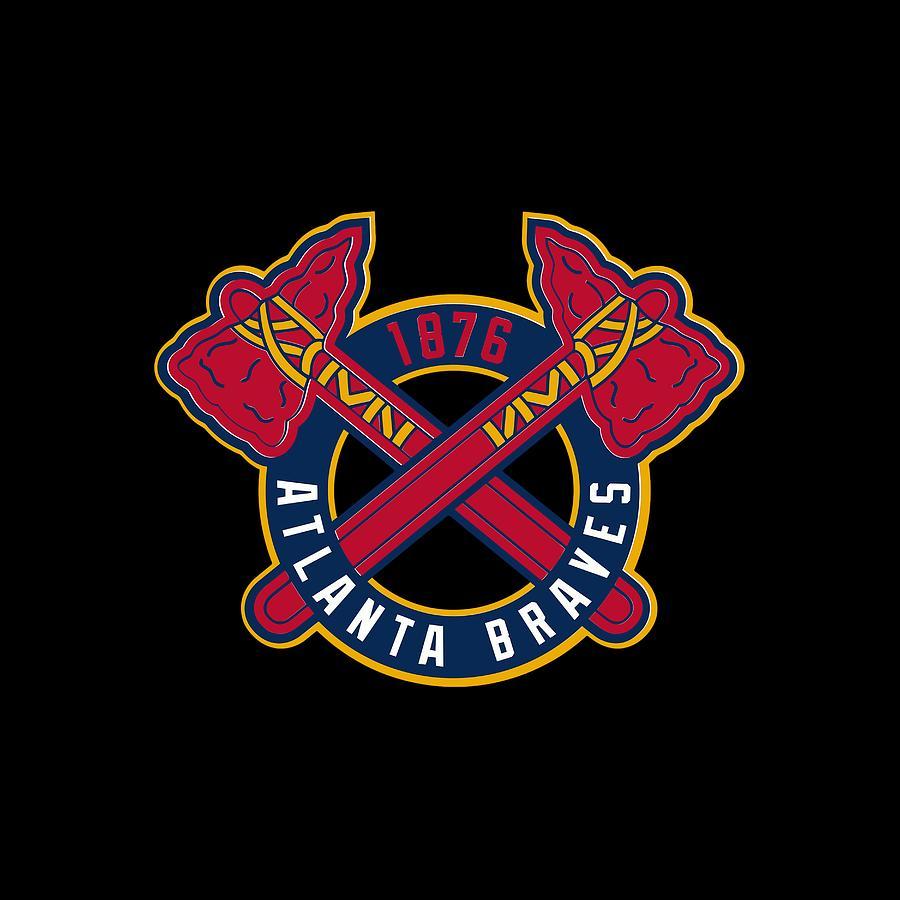 Sticker Atlanta Braves Logo Digital Art by Budi Sudarwan