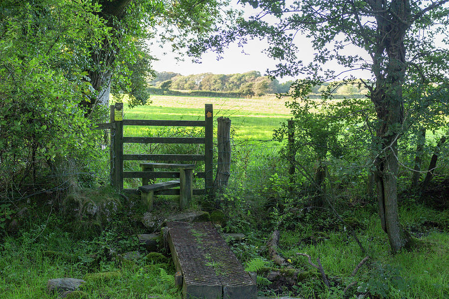 Stile between fields in Britain by Paul Cowan