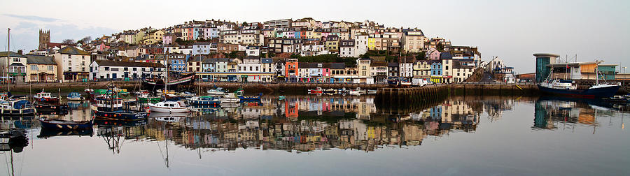 Still Dawn Reflection In  Torbay Harbor Photograph by Lakemans