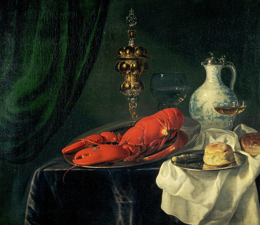 Simon Luttichuys Painting - Still-life, 1650s by Simon Luttichuys