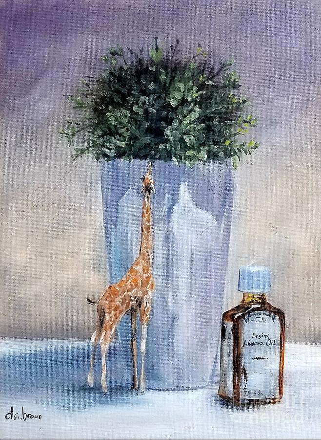 Still life and Giraffe by D A Brown