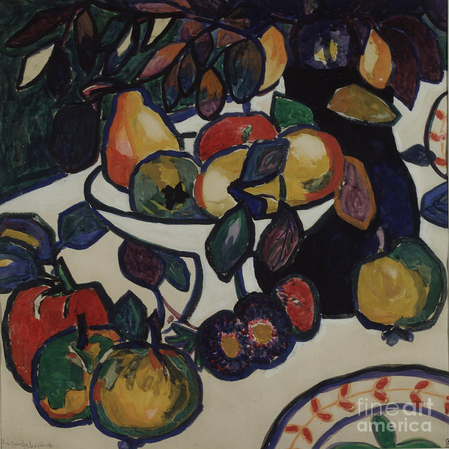 Still Life. Artist Malevich, Kasimir Drawing by Heritage Images