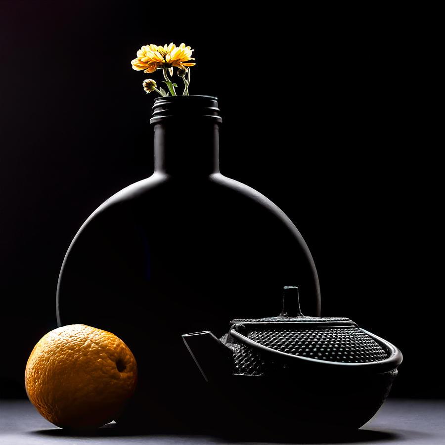 Still Life in Black and Orange by Maggie Terlecki